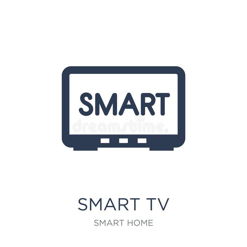Smart tv icon. Trendy flat vector Smart tv icon on white background from smart home collection. Vector illustration can be use for web and mobile, eps10 stock illustration