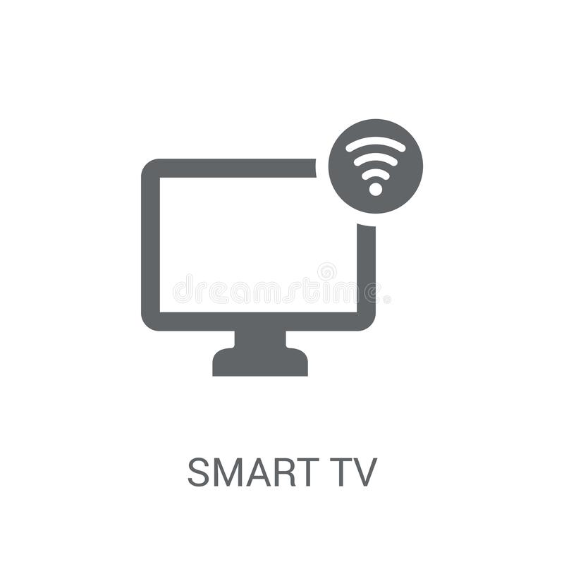 Smart tv icon. Trendy Smart tv logo concept on white background. From Smarthome collection. Suitable for use on web apps, mobile apps and print media royalty free illustration