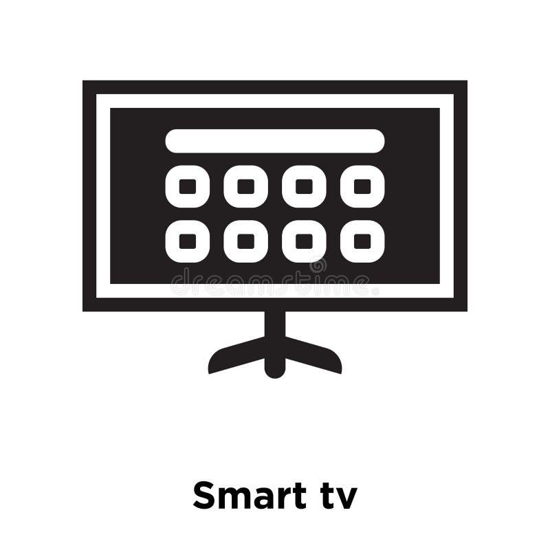 Smart tv icon vector isolated on white background, logo concept. Of Smart tv sign on transparent background, filled black symbol vector illustration