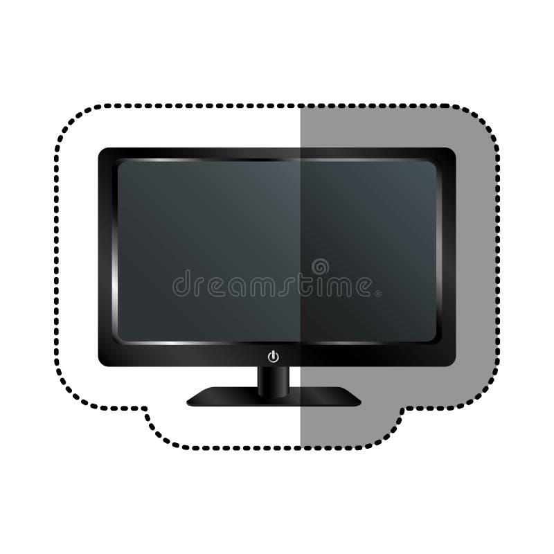 Smart tv modern technology. Illustration design stock illustration