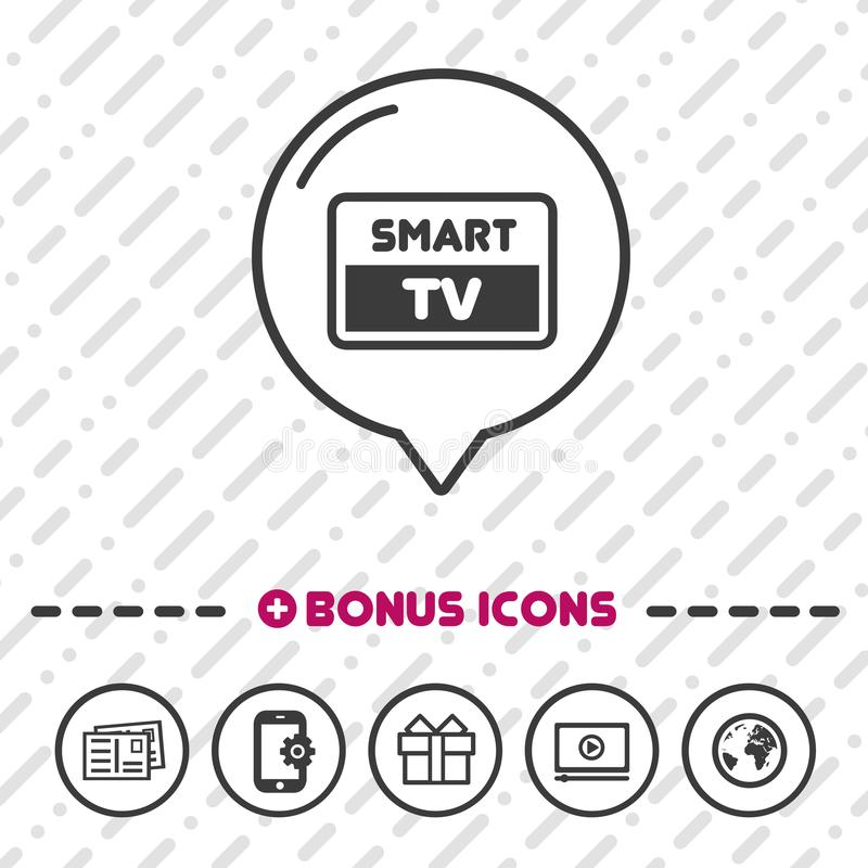 Smart TV Screen icon. Full HD symbol. royalty free illustration