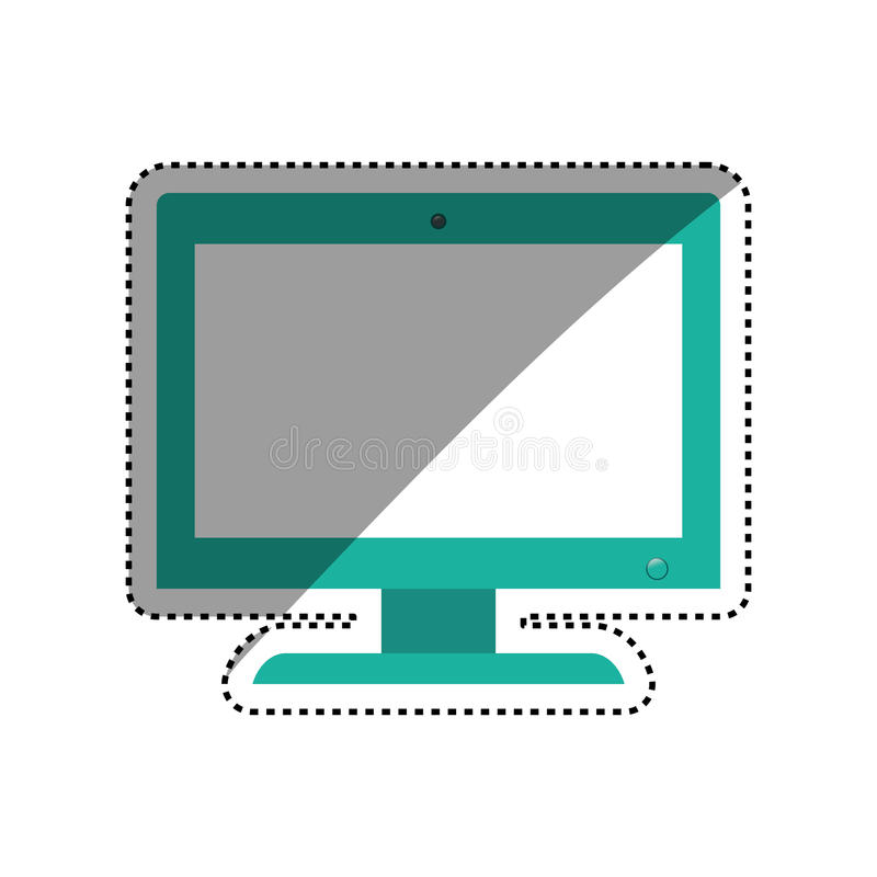 Smart tv technology. Icon illustration graphic design stock illustration