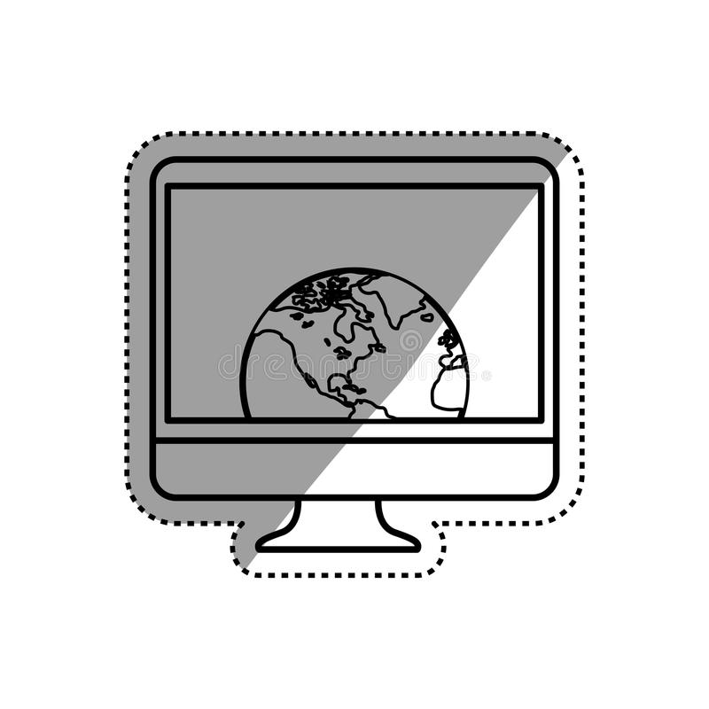 Smart tv technology. Icon illustration graphic design royalty free illustration