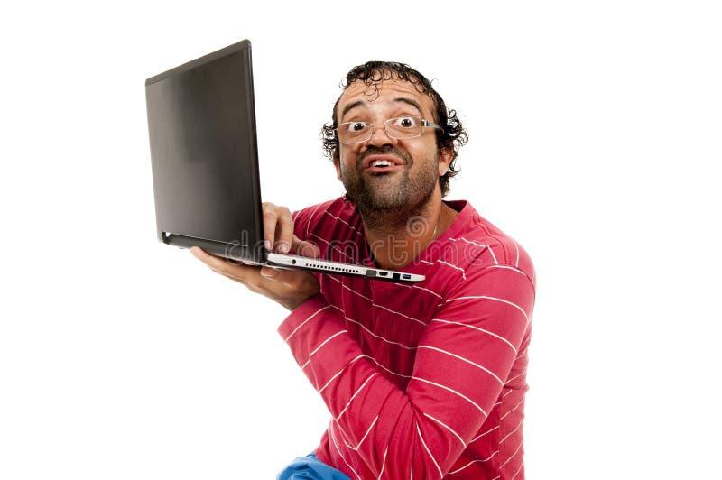 Smart Ugly man stock photos