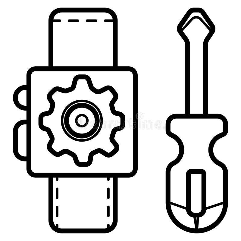 Smart vektor för klockainställningssymbol vektor illustrationer