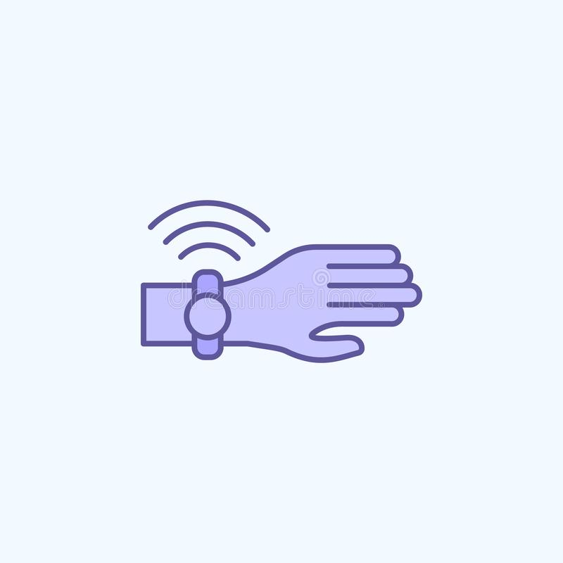 smart watch 2 colored line icon. Simple colored element illustration. smart watch outline symbol design from new technologies set vector illustration