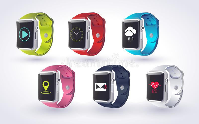 Smart Watch Concept stock image