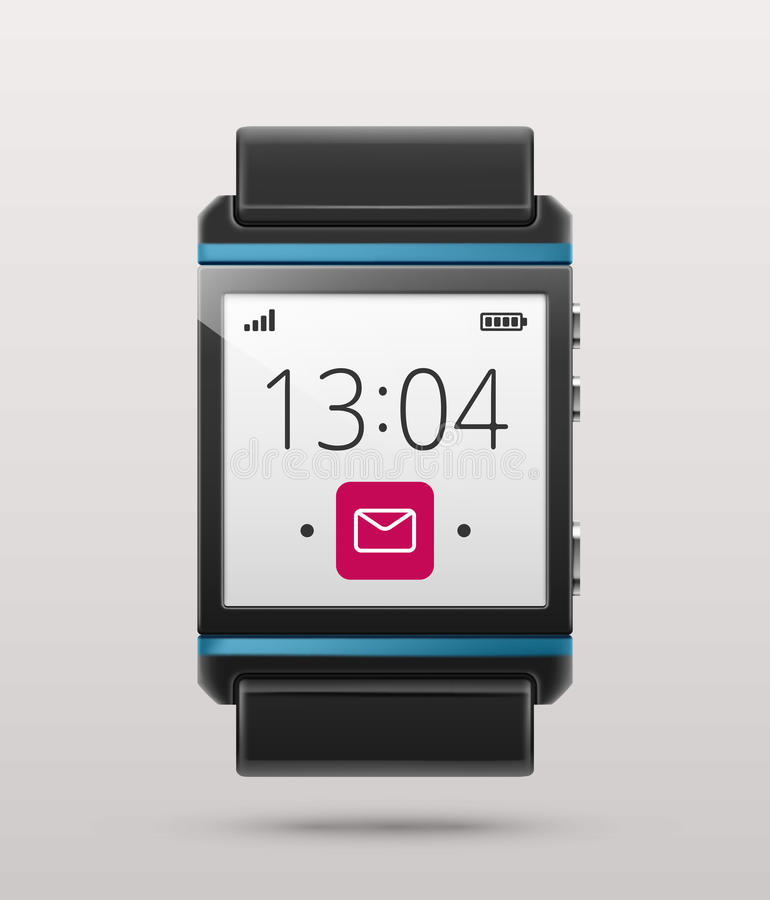 Download Smart watch stock vector. Image of icon, hand, mobile - 39947434