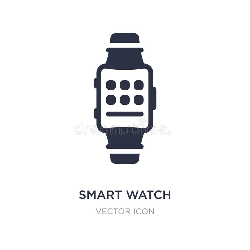 smart watch icon on white background. Simple element illustration from Technology concept royalty free illustration