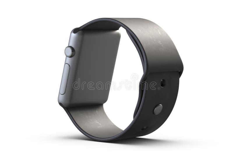 Smart Watch inalámbrico del ejemplo 3D aislado en el fondo blanco ilustración del vector
