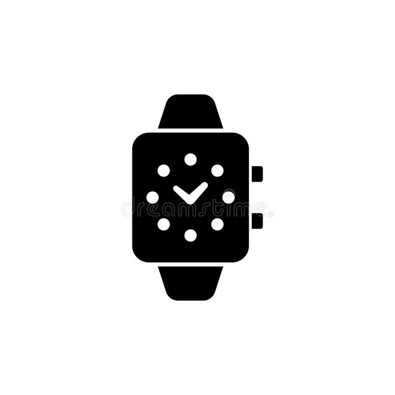 Smart Watch plan vektorsymbol för Digital klocka vektor illustrationer