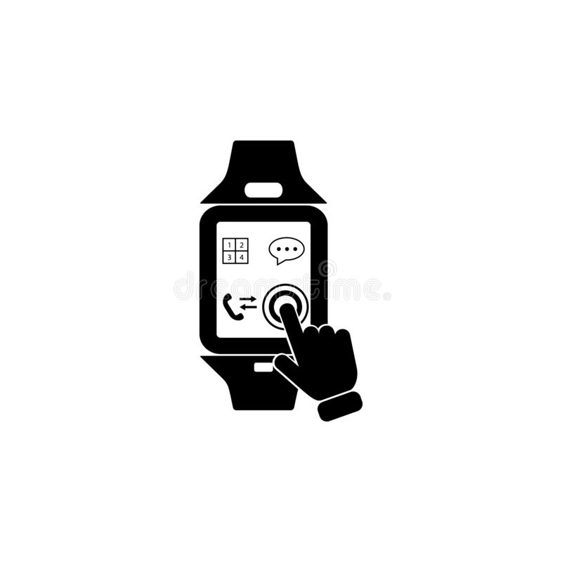 Smart Watch Touch Screen icon. Element of touch screen technology icon. Premium quality graphic design icon. Signs and symbols col. Lection icon for websites on stock illustration