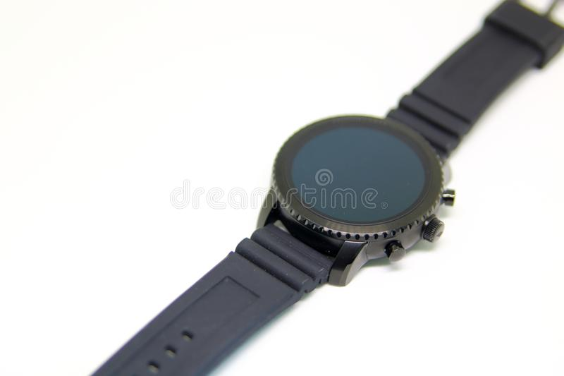 Smart watch wearable isolated. On a white background royalty free stock images