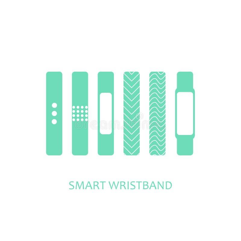 Smart wristband wearable technology vector illustration