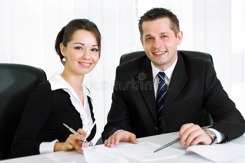 Smart young business people royalty free stock images