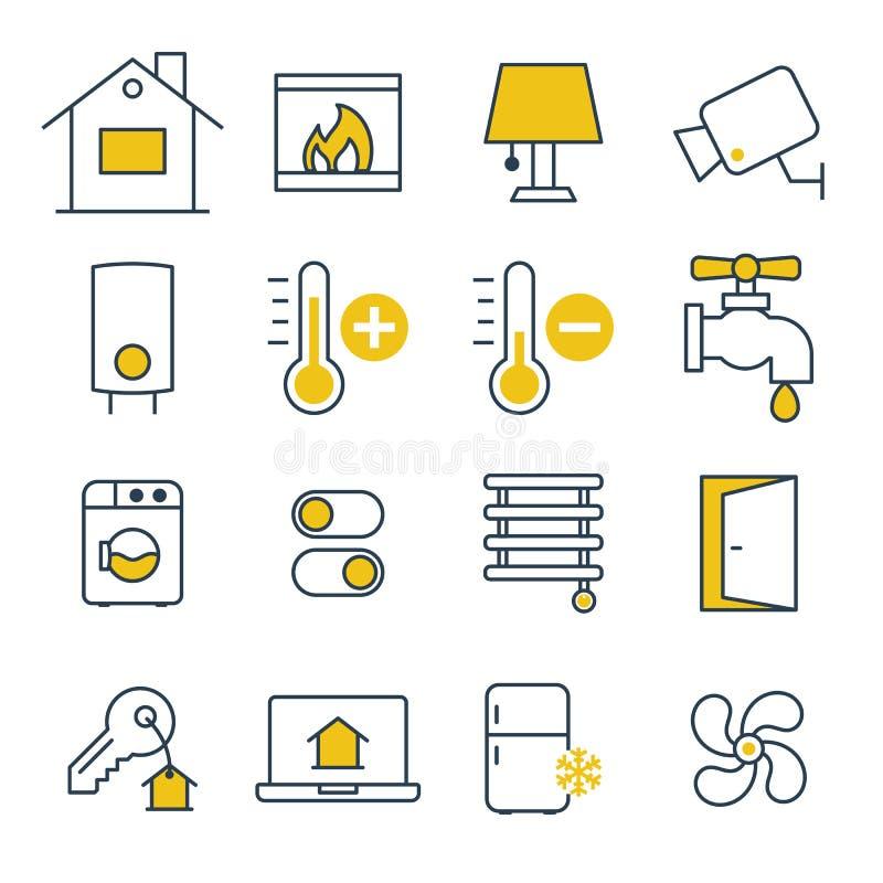 Smarta husledningsymboler vektor illustrationer