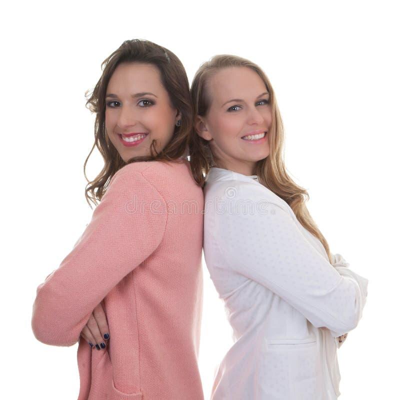 Smarta säkra affärskvinnor royaltyfria bilder