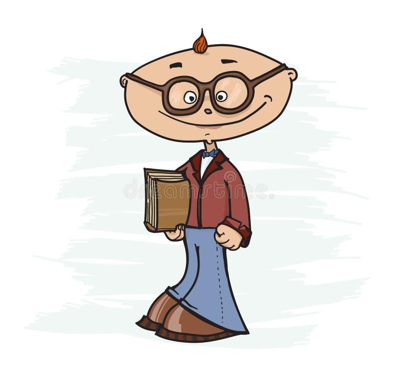 Download Smartass ilustração do vetor. Ilustração de prodigy, criança - 65576008