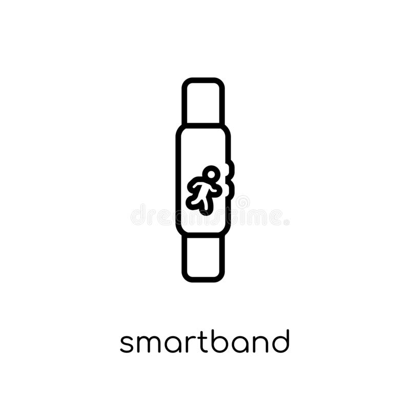 Smartband icon from Electronic devices collection. royalty free illustration