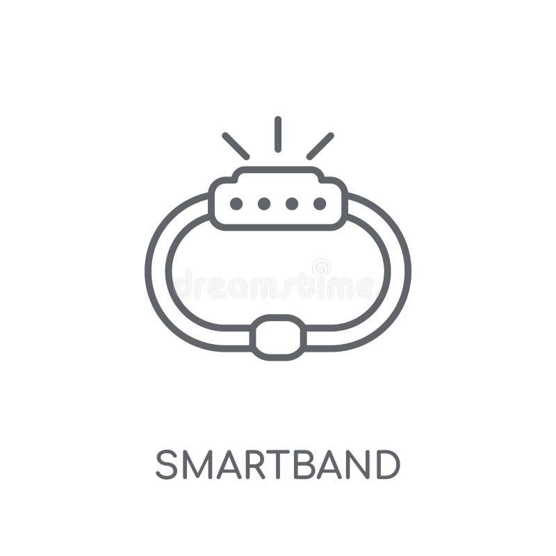 Smartband linear icon. Modern outline Smartband logo concept on stock illustration