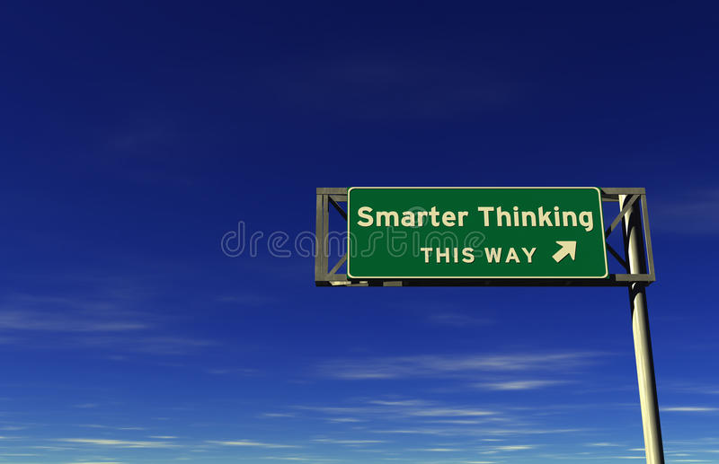 Download Smarter Thinking - Freeway Exit Sign Stock Illustration - Image: 16288004