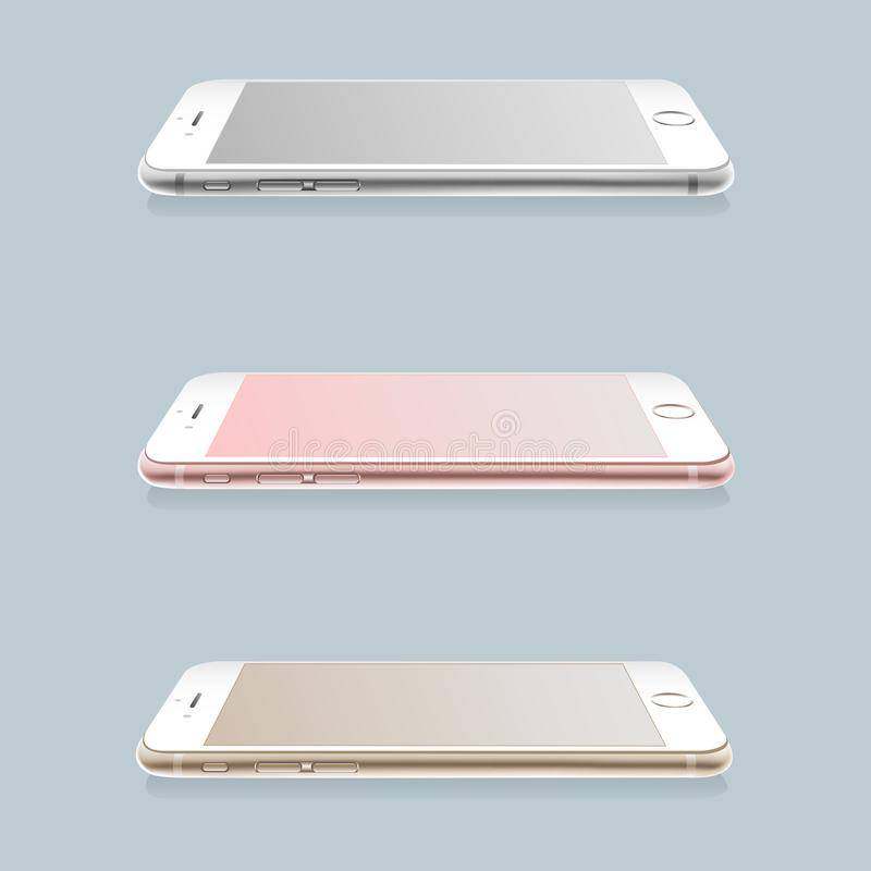 Set of realistic smartphones layouts. royalty free illustration