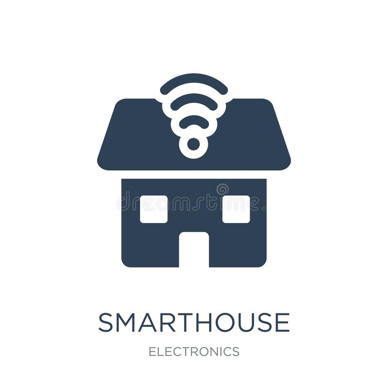 smarthouse icon in trendy design style. smarthouse icon isolated on white background. smarthouse vector icon simple and modern vector illustration