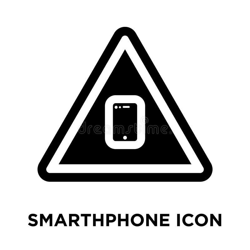 Smarthphone在白色背景隔绝的象传染媒介,商标conce 向量例证