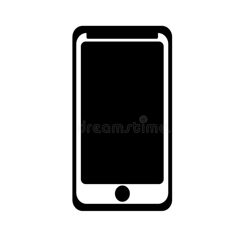 Smarthphone象在白色背景和标志隔绝的传染媒介标志, Smarthphone商标概念 库存例证