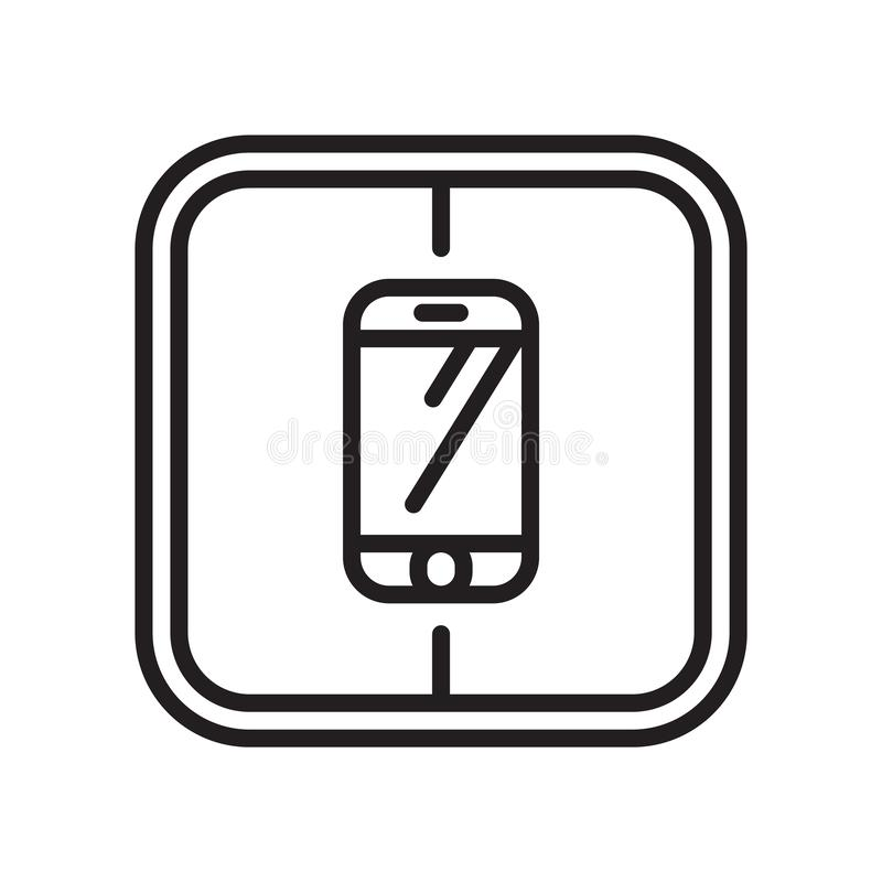 Smarthphone icon vector sign and symbol isolated on white background, Smarthphone logo concept royalty free illustration