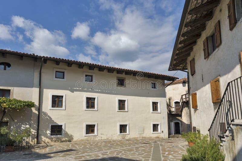 Smartno medieval village in Slovenia. Smartno medieval village, Brda region in Western Slovenia royalty free stock photography