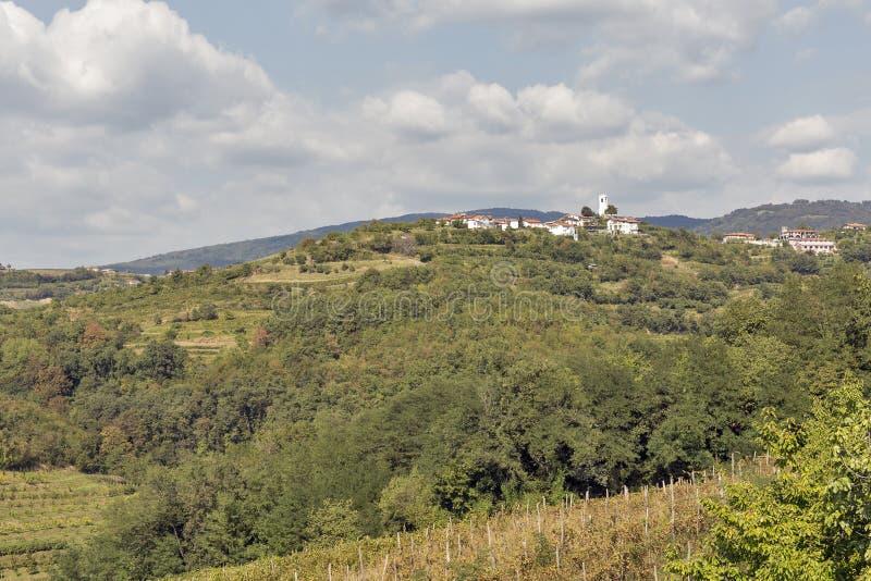 Smartno picturesque village in Western Slovenia. Smartno picturesque village landscape in Western Slovenia royalty free stock photos