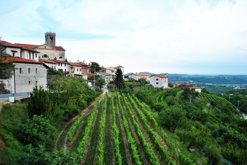 Smartno, Brda, Slovenia wine region. Village of Smartno, Brda, Slovenia royalty free stock photography