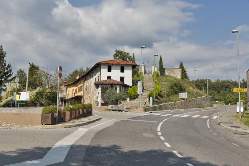 Smartno village center in Slovenia. Smartno village center, Brda region in Western Slovenia stock photos