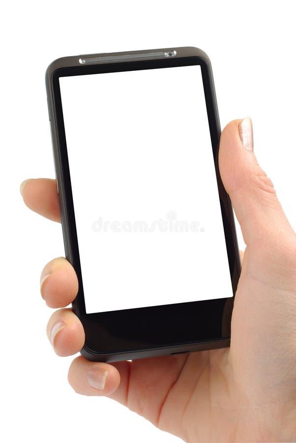 smartphone工作 图库摄影