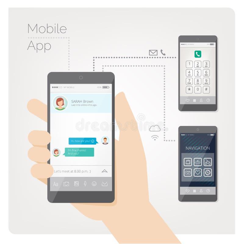 Smartphone à disposition illustration libre de droits