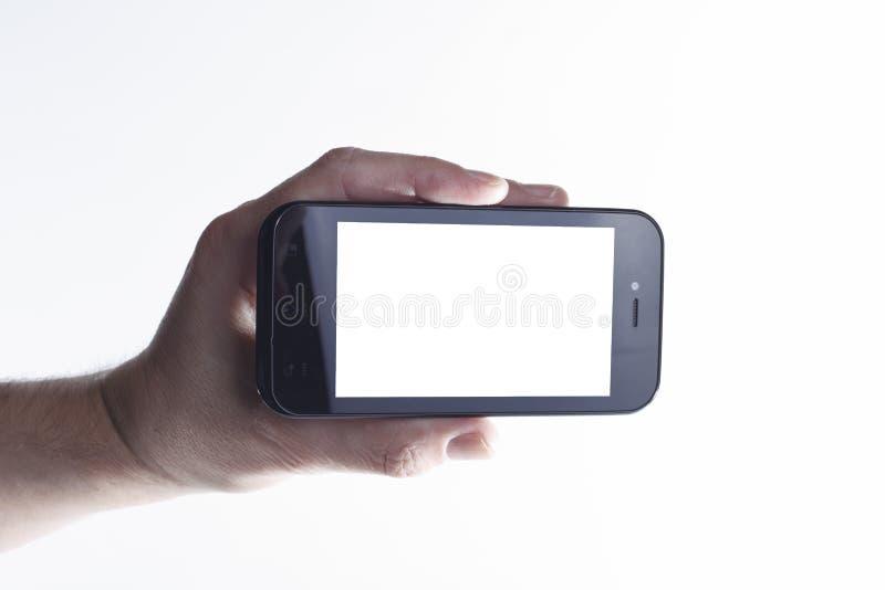 Smartphone à disposition image libre de droits