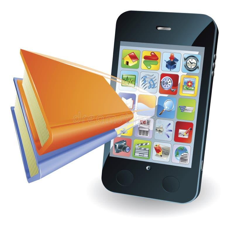 smartphone έννοιας βιβλίων ελεύθερη απεικόνιση δικαιώματος