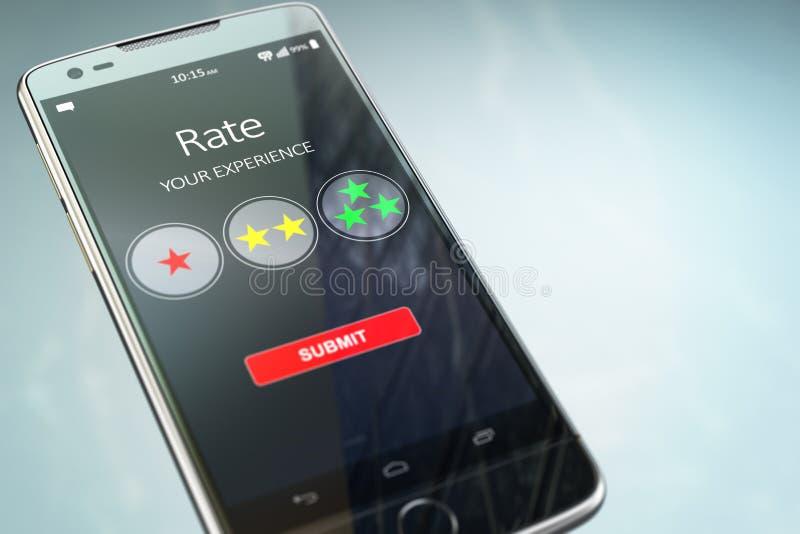Smartphone ή κινητό τηλέφωνο με το ποσοστό κειμένων η εμπειρία σας διανυσματική απεικόνιση