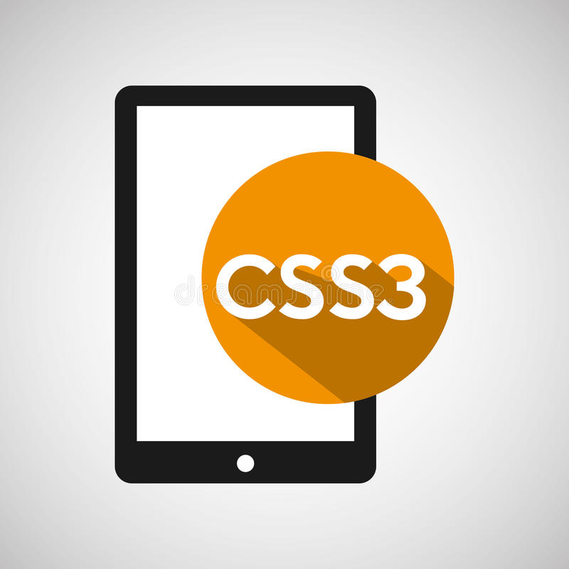 Smartphone ανάπτυξης Ιστού css3 απεικόνιση αποθεμάτων