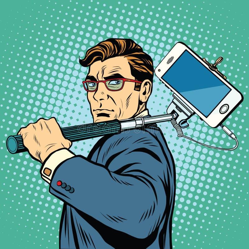 Smartphone ατόμων Selfie blogger απεικόνιση αποθεμάτων