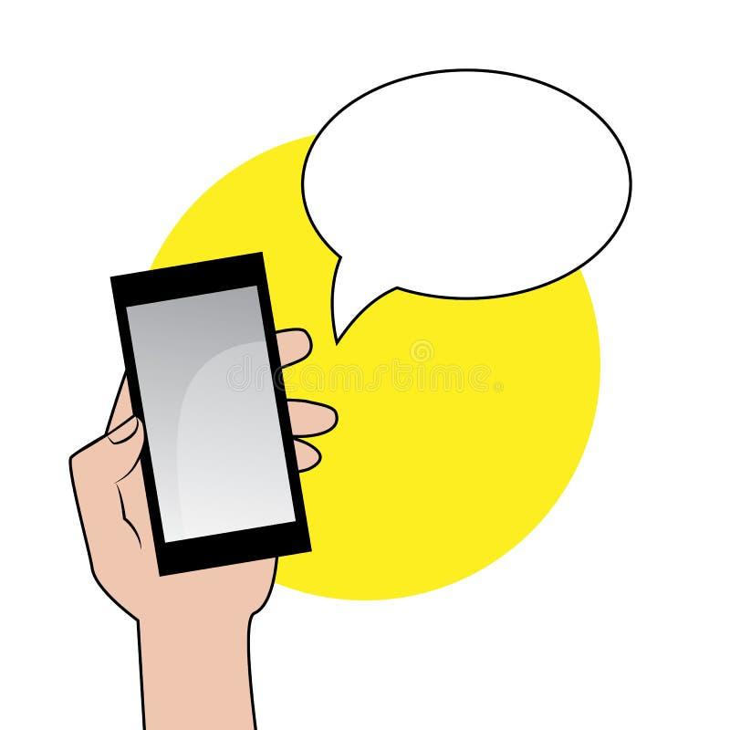 Smartphone με τη λεκτική φυσαλίδα στοκ εικόνα με δικαίωμα ελεύθερης χρήσης