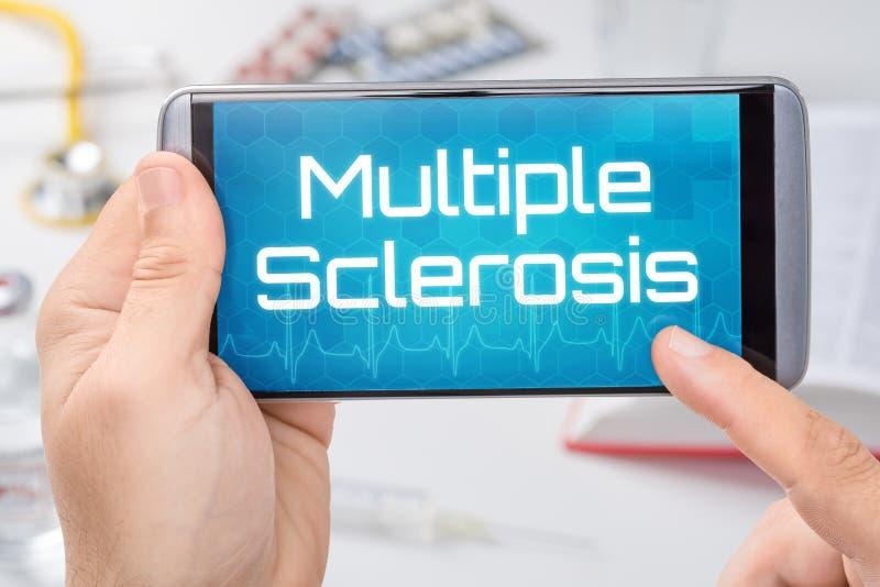 Smartphone με τη σκλήρυνση Multiole κειμένων στοκ εικόνες