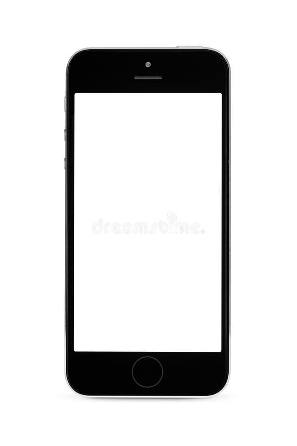 Smartphone που απομονώνεται στο άσπρο υπόβαθρο στοκ εικόνα