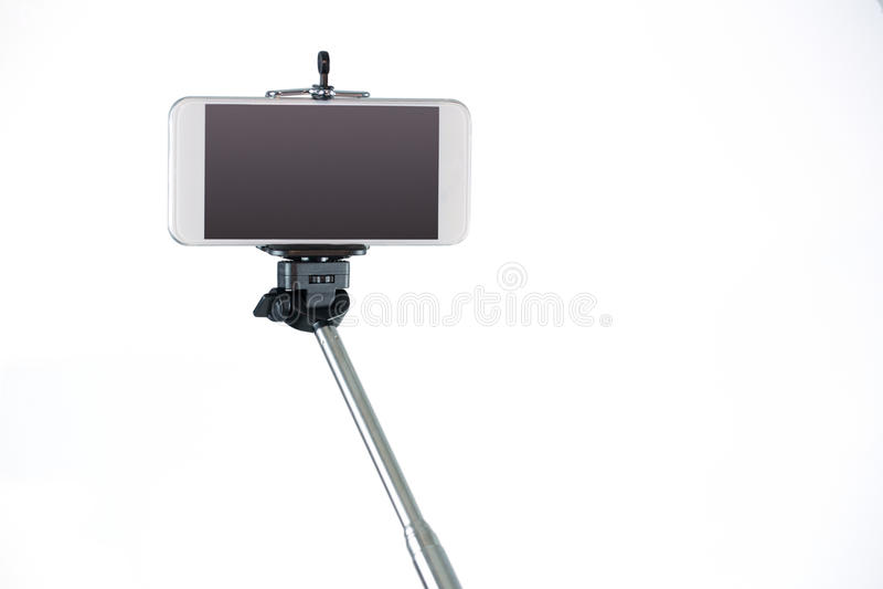 Smartphone σε ένα ραβδί selfie στοκ φωτογραφίες με δικαίωμα ελεύθερης χρήσης