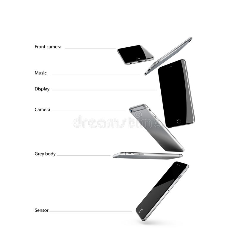 Smartphone στην τέλεια ισορροπία στοκ εικόνα