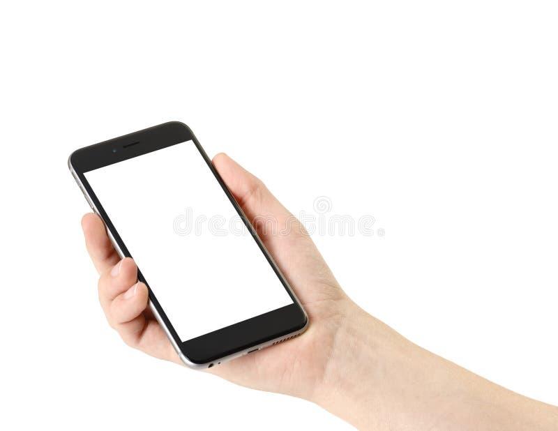 Smartphone в руке стоковая фотография rf
