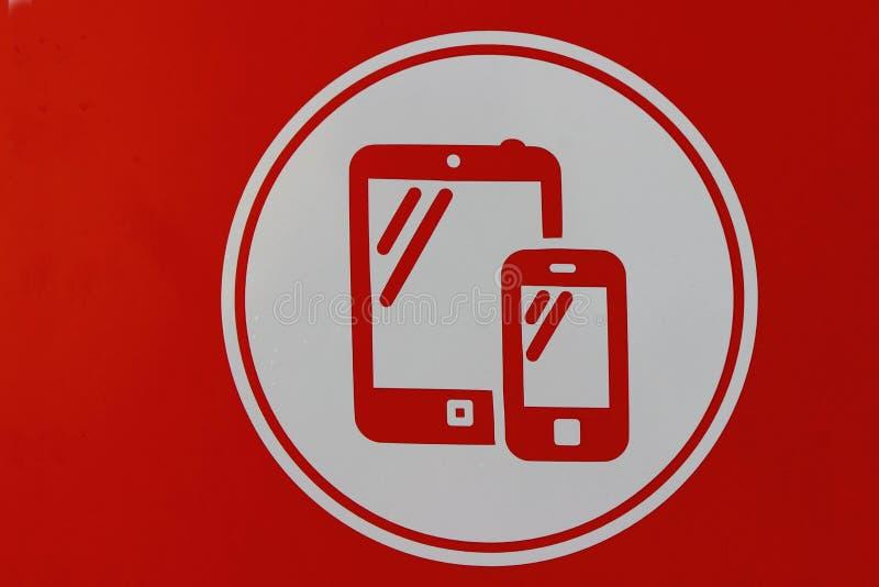 Smartphone значка стоковое фото rf