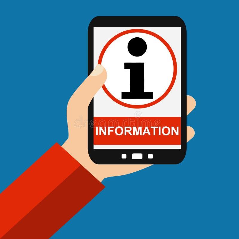 Smartphone: Информация - плоский дизайн иллюстрация вектора