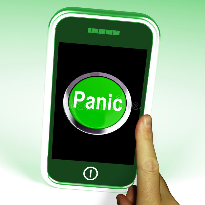 Smartphone паники значит дистресс тревожности иллюстрация штока